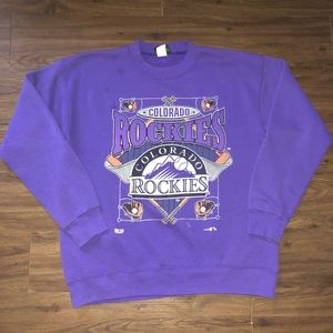 Colorado Rockies vintage crew neck sweatshirt